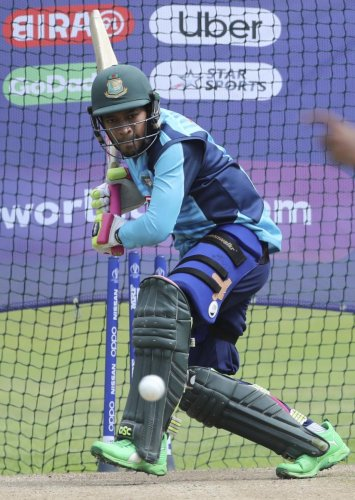 LOTS AT STAKE: The experienced Mushfiqur Rahim will have to come good against India on Tuesday. Bangladesh are in a must-win scenario. AP/PTI