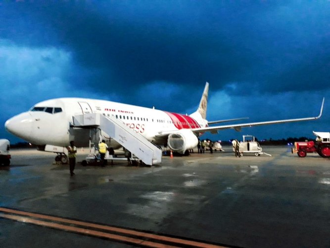 The Air India Express flight between Dubai and Mangaluru that is at the centre of a probe.