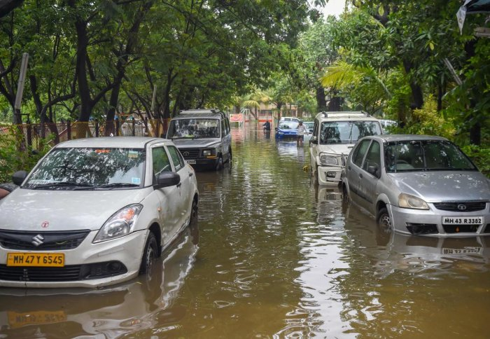 Mumbai was lashed by heavy rains for a second consecutive day, bringing the city to a virtual standstill. AFP photo