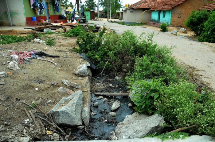 The condition of an SC colony at Gowdanahalli in Chikkamagaluru.