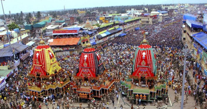 Lakhs of devotees from different corners of the country and outside are expected to congregate in the popular coastal town to witness and participate in the nine-day long colourful festival. PTI file photo