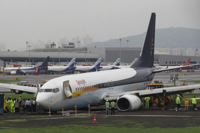 The circular, titled 'Monsoon Operations', comes as the main runway at Mumbai airport continues to remain shut after a SpiceJet plane from Jaipur veered off it while landing and got stuck in the adjacent grass area. (Reuters Photo)