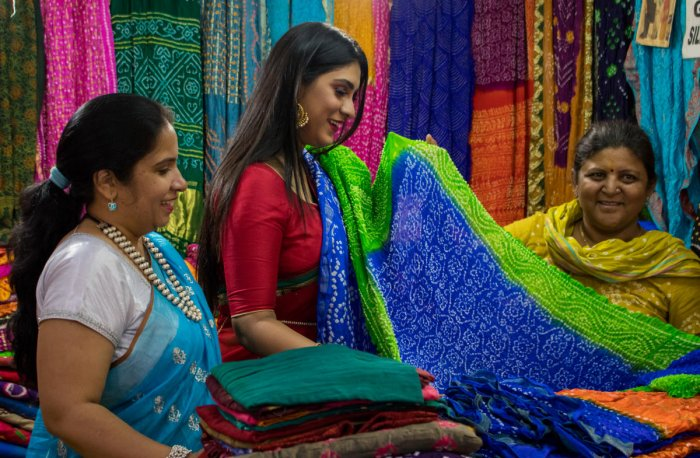 Some designers are seeking subsidies for the handloom sector, which they say needs support. DH Photo