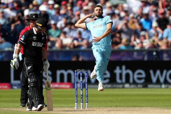England's Mark Wood in action against New Zealand. (Reuters Photo)