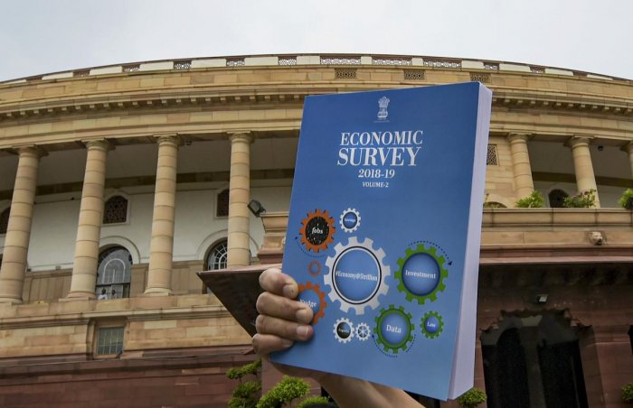 Economic Survey 2018-19 which was tabled in Parliament, during the ongoing budget session in New Delhi, Thursday, July 04, 2019. (PTI Photo)