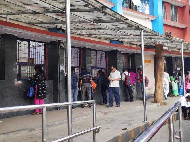 BMTC counters are aplenty, but students say that the process is unfriendly.