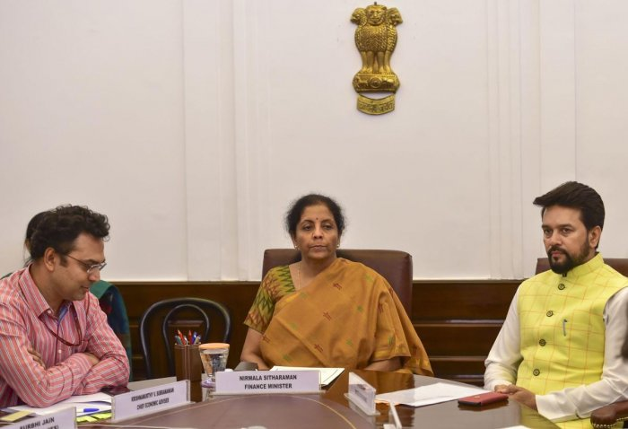 On July 5, Sitharaman makes her first major public appearance in her new role, presenting India's budget at a time when she's under pressure to spend more to reinvigorate the economy. (PTI File Photo)