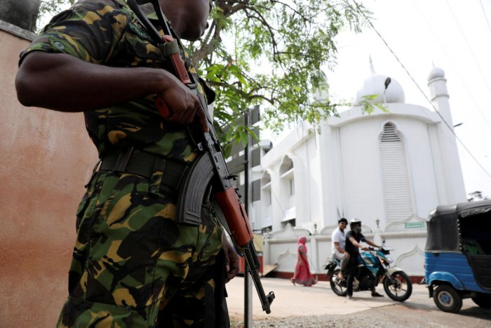 A soldier stands guard outside the Grand Mosque, days after a string of suicide bomb attacks on churches and luxury hotels across the island on Easter Sunday, in Negombo, Sri Lanka April 26, 2019, Reuters File Photo