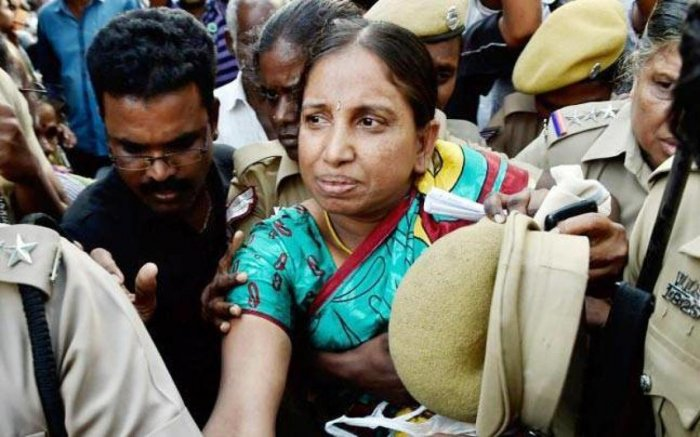 The Madras High Court on Friday granted one month parole to Nalini Sriharan, serving life sentence in the Rajiv Gandhi assassination case, after she argued her plea in person for seeking the relief to make arrangements for her daughter's wedding. File photo