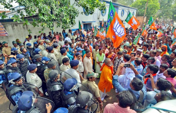 While the state BJP leadership alleged that he was beaten to death by TMC cadres for chanting 'Jai Shri Ram', the local TMC leadership has denied the allegation. (PTI File Photo)