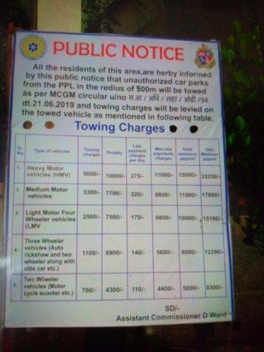 parking fee card
