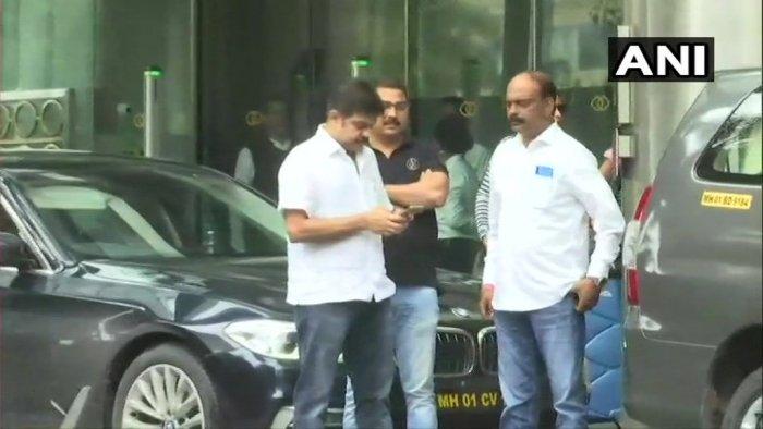 BJP MLC Prasad Lad outside Sofitel Mumbai BKC hotel in Mumbai, where 10 Karnataka Congress-JD(S) MLAs are staying.