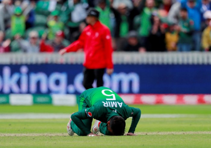 Mohammad Amir got his first five wicket haul for Pakistan in the match against Australia. Photo credit: Reuters
