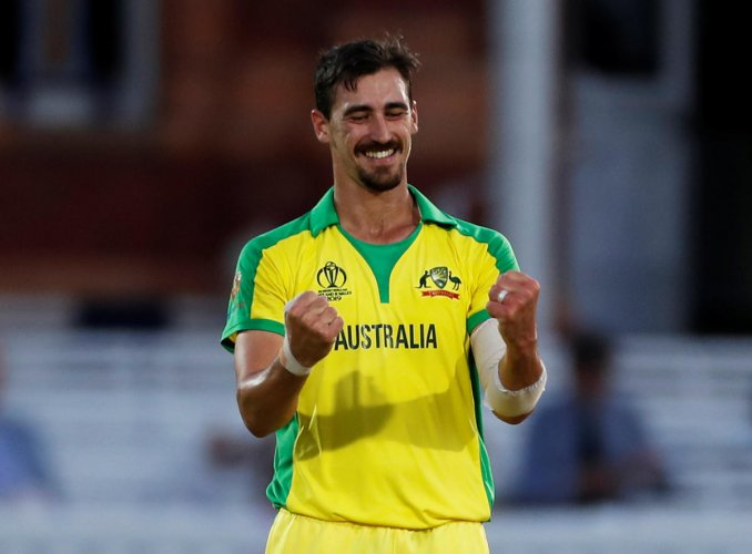 Mitchell Starc is the leading wicket taker of the World Cup till now. Photo credit: Reuters