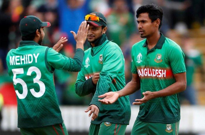 Bangladesh's bowling attack will rest heavily on Shakib Al Hasan and Mustafizur Rahman. Photo credit: Reuters