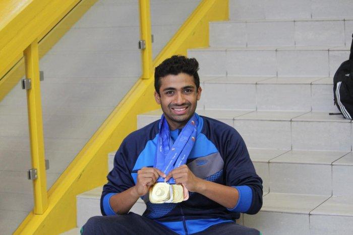 Niranjan Mukundan has been swimming since 2003.