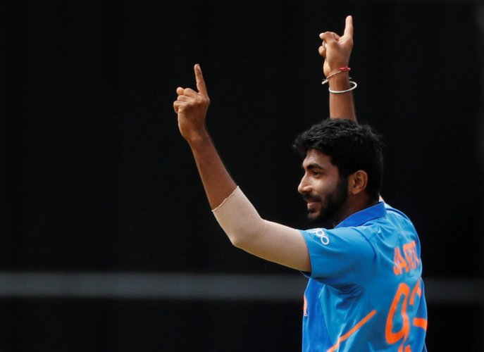 Bumrah was keen to share the plaudits with the rest of the attack, even though he was the undoubted star of the bowling show during the win. (Reuters Photo)