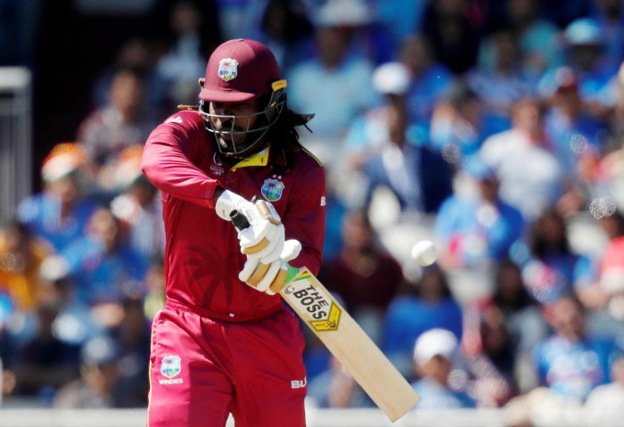 File photo of Chris Gayle in action against India. Photo credit: Reuters