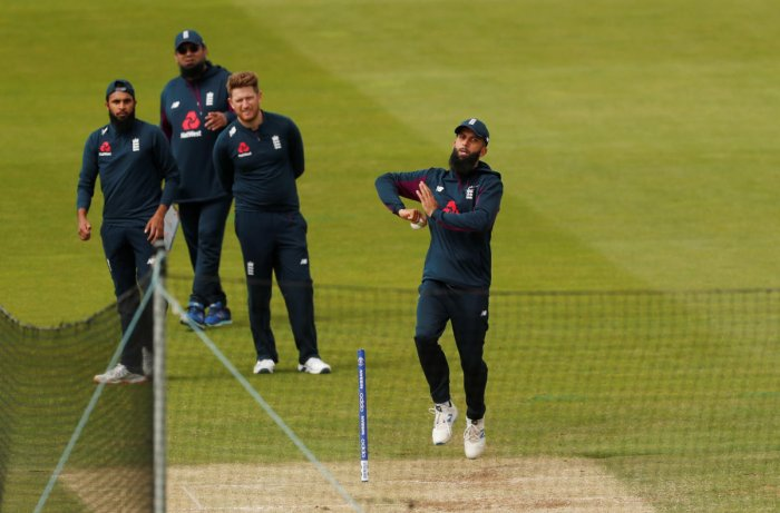 England's Moeen Ali during nets. Photo credit: Reuters