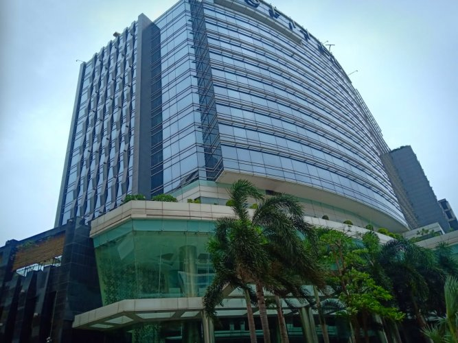 The Sofitel Hotel at Bandra-Kurla Complex in Mumbai where some Congress-JD(S) have been lodged in the wake of fast-changing political situation in Karnataka.