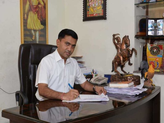 Three days after taking charge, Goa Chief Minister Pramod Sawant Friday called on Prime Minister Narendra Modi in New Delhi, his office said.