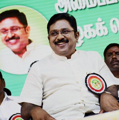 Amma Makkal Munnetra Kazhagam (AMMK) led by AIADMK rebel T T V Dhinakaran will not field its candidate in the August 5 elections to Vellore Lok Sabha constituency. The party's chief Dhinakaran told reporters on Monday that the AMMK would contest polls only after the process of registering the outfit as a party was over. PTI file photo