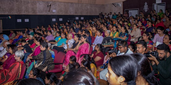 The event was held at Seva Sadan and saw audiences of all age groups from across the city.