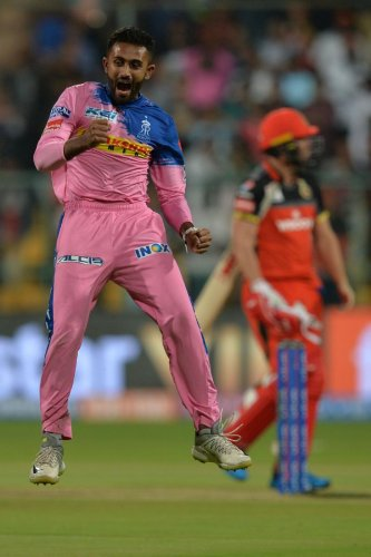 Leg-spinner Shreyas Gopal has had an excellent season with Rajasthan Royals. AFP