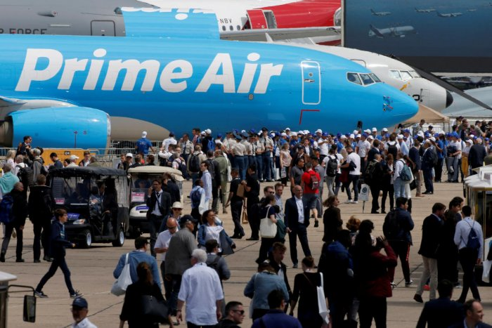 Amazon's aircraft fleet expansion is proving a boon for Israel Aerospace Industries (IAI). (REUTERS File Photo)