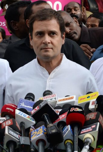 Congress leader Rahul Gandhi on Monday condoled the death of 29 passengers in a bus accident in Uttar Pradesh. (PTI Photo)