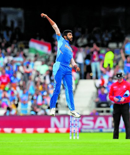 Bumrah has emerged as India's leading wicket-taker in the tournament with 17 wickets in eight games as India looked in top form. (PTI Photo)