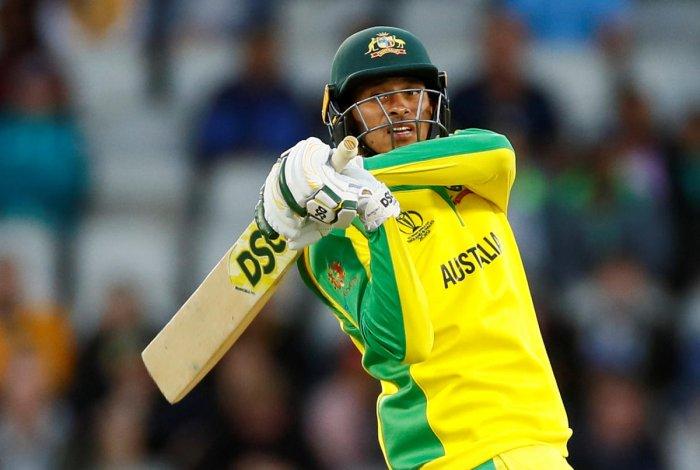 Australia's Usman Khawaja in action. (Reuters Photo)