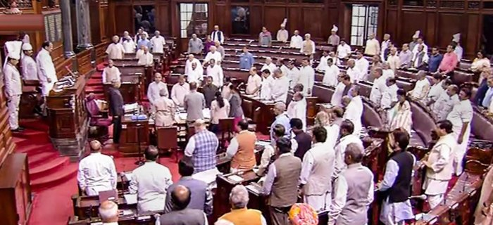 A demand to fix a minimum threshold for payment of wages of a worker into a bank account was made in the Rajya Sabha. (PTI Photo)