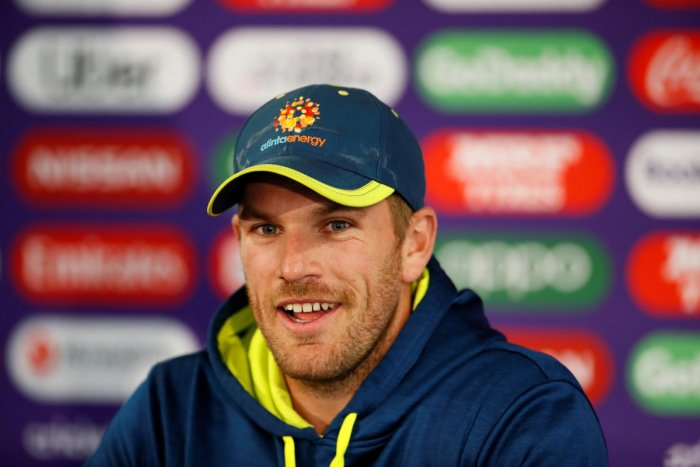 Australia's Aaron Finch during the press conference. (Reuters Photo)