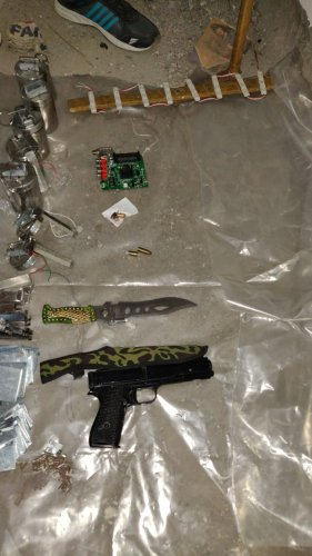 The agency recovered five fabricated hand grenades, one-timer device, three electric circuits, suspected explosive substance, different components for making IEDs/rockets. DH photo