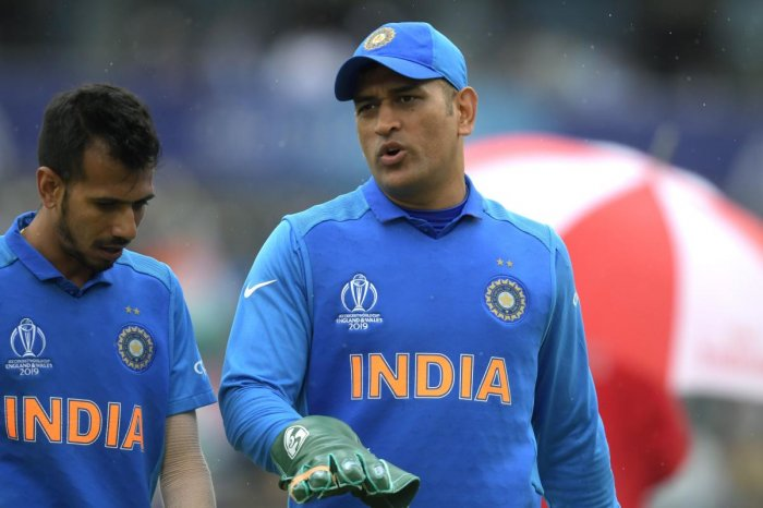 MS Dhoni during ICC World Cup 2019. Photo credit: AFP