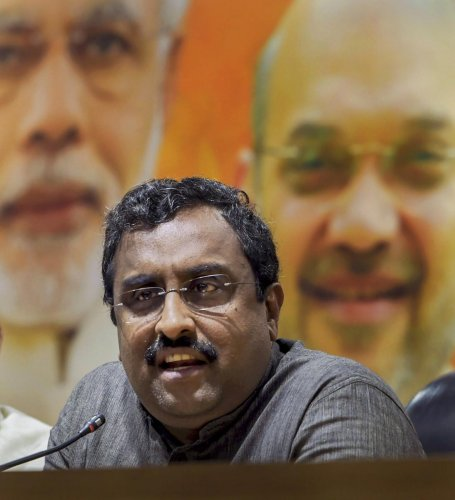 File picture of Ram Madhav. Photo credit: PTI