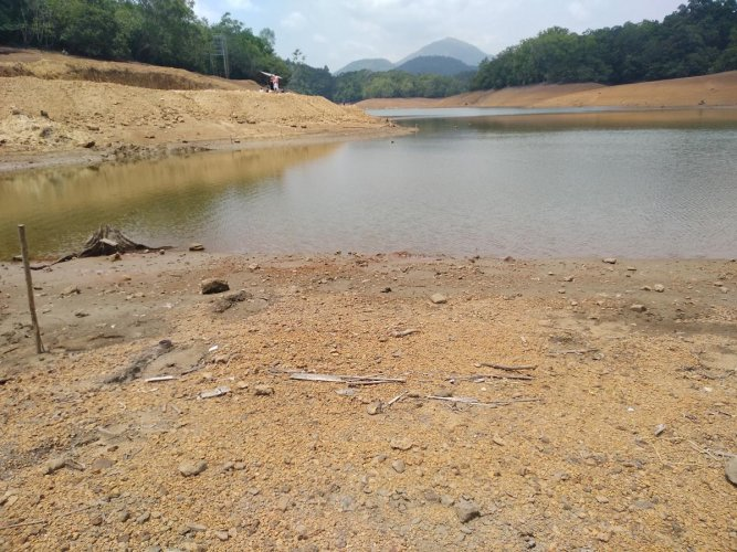 Neyyar, one of the major water supply source in Thiruvananthapuram, almost dried up just ahead on the monsoon. The situation remains almost same now also owing to deficit in monsoon. DH file photo