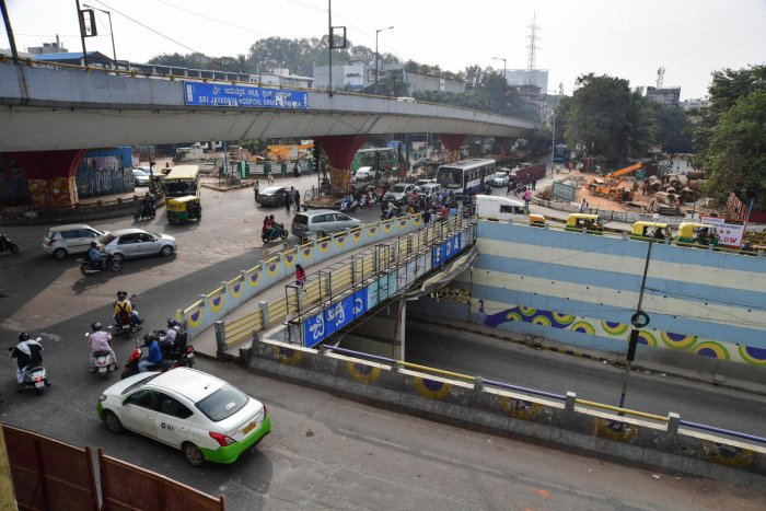 Image result for latest images of Part of Jayadeva flyover to be closed from Monday