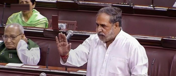 """As soon as the House assembled, Congress Deputy Leader Anand Sharma said the BJP was """"assaulting"""" democracy by indulging in destabilising the Karnataka government. (PTI File Photo)"""