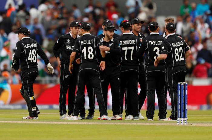 "Kane Williamson's side sealed an 18-run victory and advanced to Sunday's title clash at Lord's, where they face Australia or hosts England, with several media outlets calling the shock win the ""Miracle in Manchester."" (Reuters Photo)"