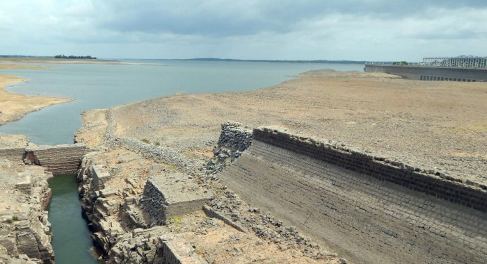 A view of the KRS dam in Srirangapatna taluk, Mandya district.