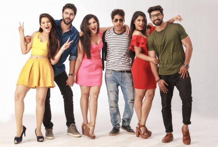 Vaisiri, Chakravarthi, Vainidhi, Sumukha, Vaibhavi and Abhishek in 'Yaanaa'.