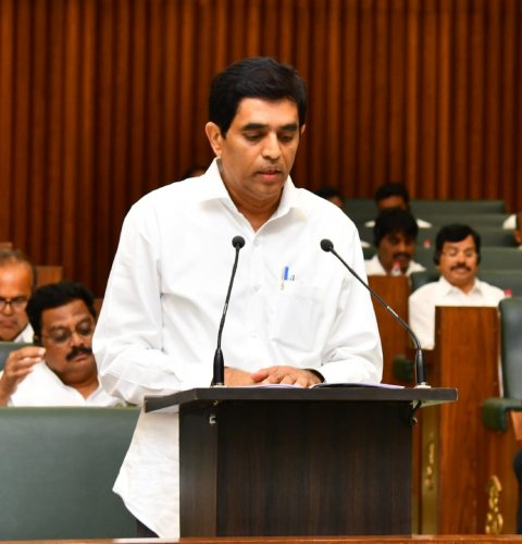 Andhra Pradesh Finance Minister Buggana Rajendranath Reddy presents State Budget