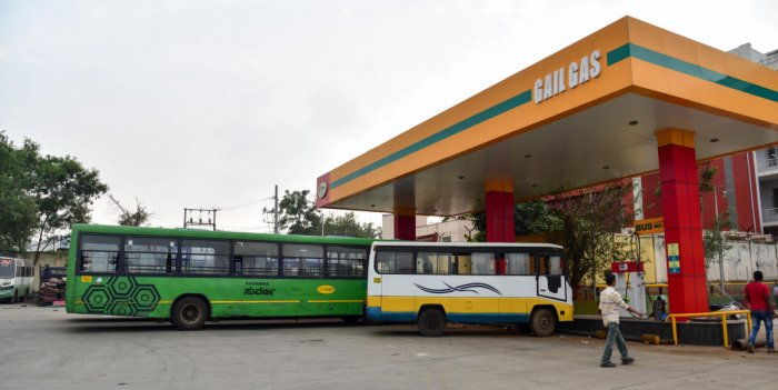 The development comes nearly four years after Gail set up stations at three BMTC depots at a cost of Rs 17 crore. DH FILE