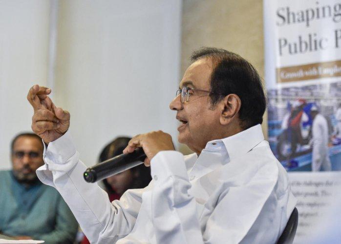 Former finance minister P Chidambaram speaks on the Budget 2019-20 in New Delhi (PTI Photo)