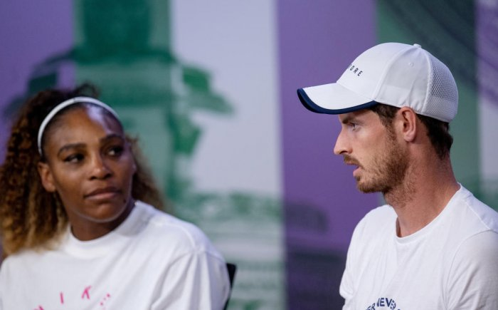 The Scot lost in the second round of the men's doubles at Wimbledon with Pierre-Hugues Herbert and in the third round of mixed doubles with Serena Williams, but said there was still a long way to go before a return to singles competition. (Reuters Photo)