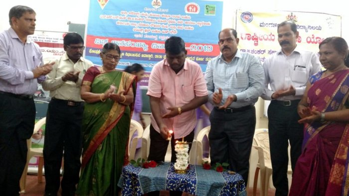 Zilla Panchayat President Dinaker Babu inaugurated World Population Day programme at Dr G Shankar Government Women First Grade College and PG Centre in Ajjarkad in Udupi on Thursday.