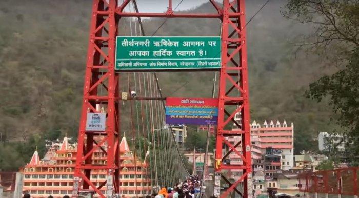 Luxman Jhoola bridge, Rishikesh (Video Grab)