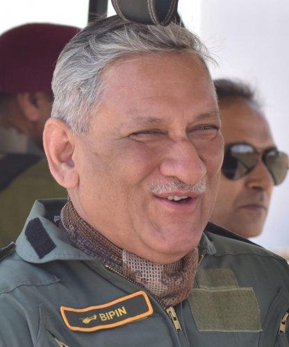 Army chief General Bipin Rawat